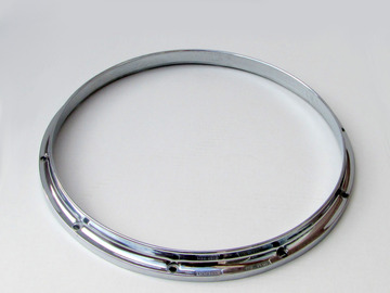 """Selling with online payment: LUDWIG DRUM DIE CAST HOOP CHANNEL STYLE VINTAGE   14"""" 10 HOLE"""