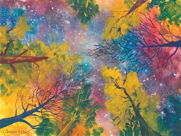 Selling with online payment: Celestial Forest 11x14 Art Print