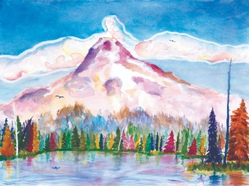 Selling with online payment: Mount Hood at Trillium Lake 11x14 Art Print