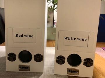 Ilmoitus: 4living valkoiset viinipussi puulaatikot
