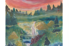 Selling with online payment: Multnomah Falls 11x14 Art Print