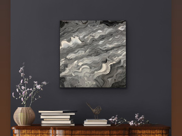 Sell Artworks: Grey stormy Waves