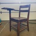 Daily Rental: DARK wood vintage school desk