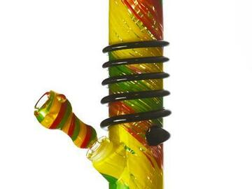 """Post Now: Twisted Sisters - 12""""  Colored Straight Tube Bong"""