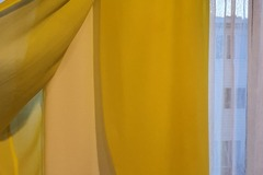 For Sale: Yellow and white mid length dress