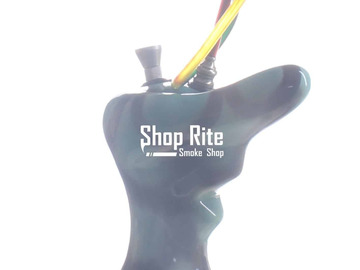 Post Now: Nose Ceramic Bong Black and Green