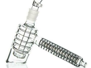 Post Now: Ribbed Showerhead Perc Hammer Bubbler