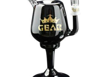 """Post Now: GEAR 8"""" Tall Goblet Concentrate Bubbler"""