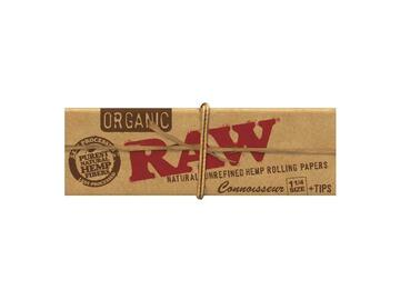 Post Now: RAW Organic Connoisseur Rolling Papers with Tips - 1¼