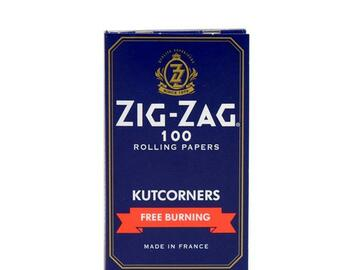 Post Now: Zig Zag Blue Kutcorners Free Burning Rolling Papers - Single Wide