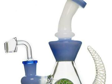 Post Now: Bent Neck Implosion Marble Dab Rig