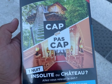 """Vente: Coffret Wondebox """"CAP OU PAS CAP Insolite ou château ?"""" (69,90€)"""