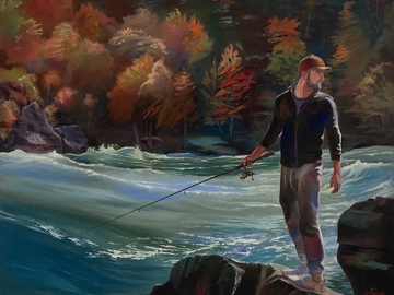 Sell Artworks: The Distracted Fisherman
