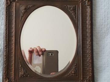 Vente: Miroir encadrement laiton