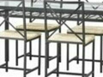Myydään: Dinning table with 4 chairs,