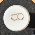 Vente au détail: Créoles 20mm (perles rose)