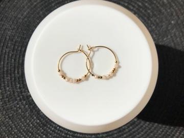 Vente au détail: Créoles 20mm (perle corail)