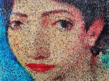 Sell Artworks: Flitting over her face (n.579) - Dolls series