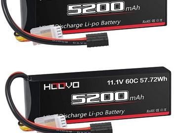 Selling: 2pcs 11.1V 5200mah 60C 3S Lipo Battery TRX Plug E-revo UDR Summit