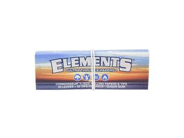 Post Now: Elements Connoisseur Rolling Papers with Tips - 1¼