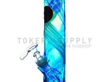 Post Now: Straight Tube Colored Glass Water Pipe