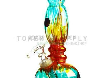 """Post Now: 11"""" Colored Glass Rocket Water Pipe"""