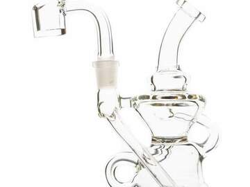 Post Now: Rock Glass - Mini Triple Recycler Dab Rig