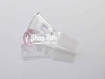Post Now: Pink Handle Glass bowl