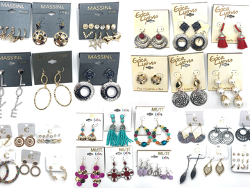 Liquidation/Wholesale Lot: 125 Pair Incredible Department Store Earring lot -NO DOUBLES-