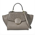 Liquidation/Wholesale Lot: Genuine Leather Dark Grey Textured handbag with Crossbody Strap M