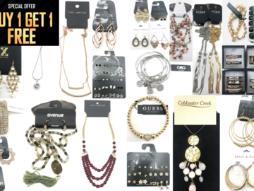 Liquidation/Wholesale Lot: Buy 1 Get 1 FREE!! $4,000.00 Jewelry Lot- ALL Name Brands