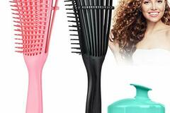 Bán buôn thanh lý lô: 3 Pack Detangling Hair Brush Set