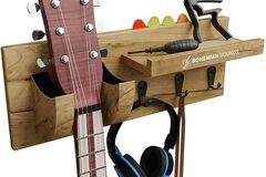 Bán buôn thanh lý lô: Guitar Wooden Wall Hanger By Bohemian Sounds – LIGHT BROWN