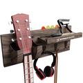 Bán buôn thanh lý lô: Guitar Wooden Wall Hanger By Bohemian Sounds – Dark BROWN