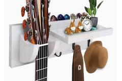 Bán buôn thanh lý lô: Guitar Wooden Wall Hanger By Bohemian Sounds – White