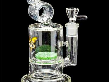 """Post Now: Red Eye Tek - 8"""" Tall Freud Tube with Frit Perc"""
