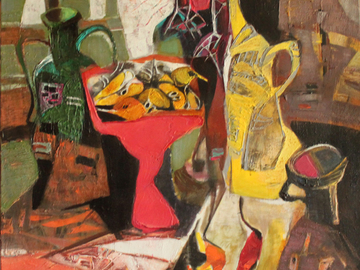 Sell Artworks: Still life with a red vase,