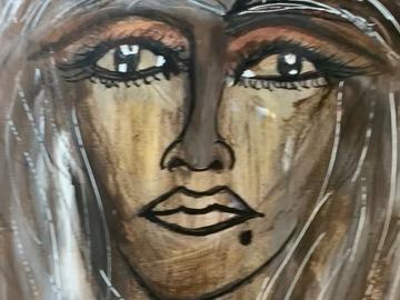 Sell Artworks: Sad Beautiful lady