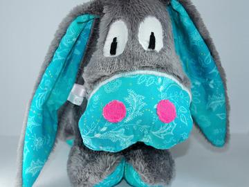Vente au détail: Mon âne gris et turquoise floral
