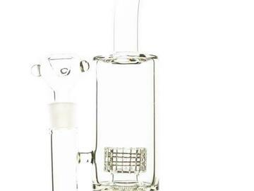 """Post Now: 15""""  Double Stereo Matrix Perc Water Pipe"""