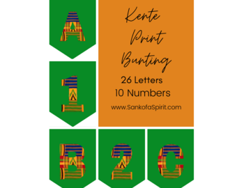 Selling with online payment: Kente African Print Bunting Letters and Numbers - Digital File