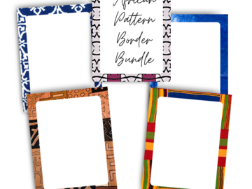 Selling with online payment: African Pattern Printable Border Bundle