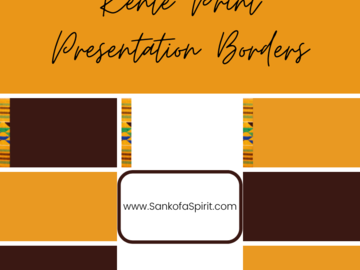 Selling with online payment: Kente Print Presentation Borders