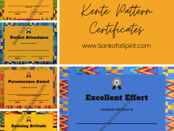 Selling with online payment: Kente Pattern Certificate Bundle