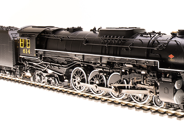 Selling with online payment: Broadway Limited HO C&O J3a 4-8-4 Brass Hybrid #614 *NIB*
