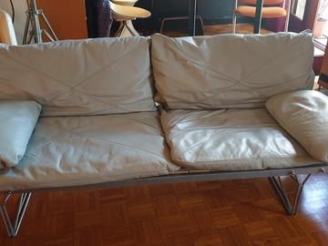 Vente: Canapé cuir gris