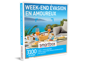 """Vente: Coffret Smartbox """"Week-end évasion en amoureux"""" (59,90€)"""