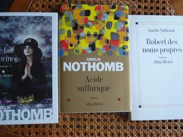 Vente: Lot de 3 livres d'Amélie Nothomb - Albin Michel