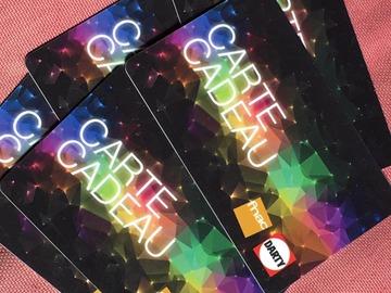 Vente: Cartes Cadeaux FNAC DARTY (500€)