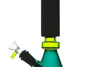 Post Now: Tri-Colored Diffused Downstem Beaker Bong